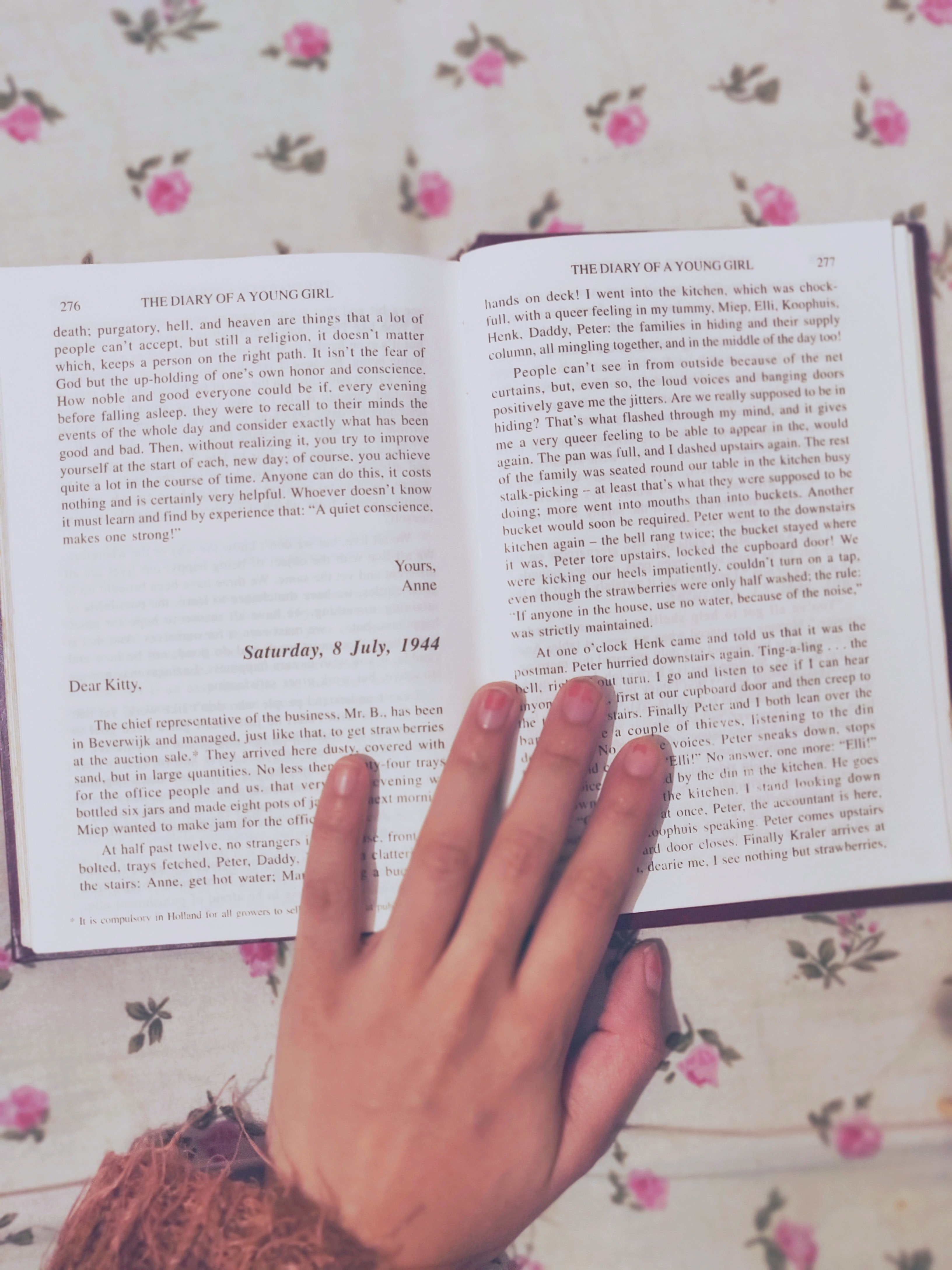 """A book opened - """"The diary of Anne Frank"""""""