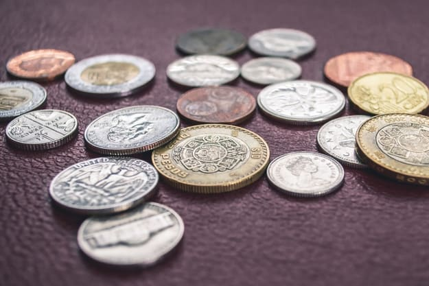 lots of different coins