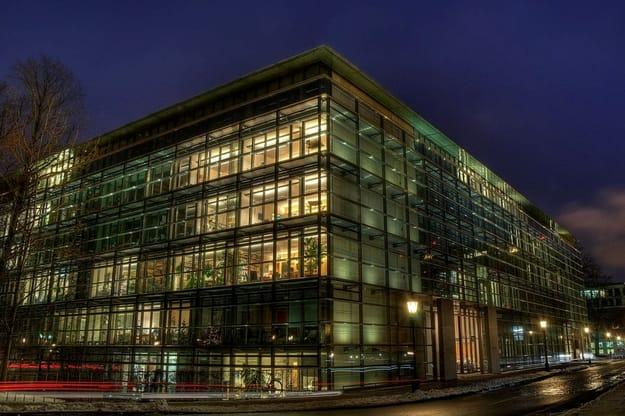 MIPLC Munich Building by night