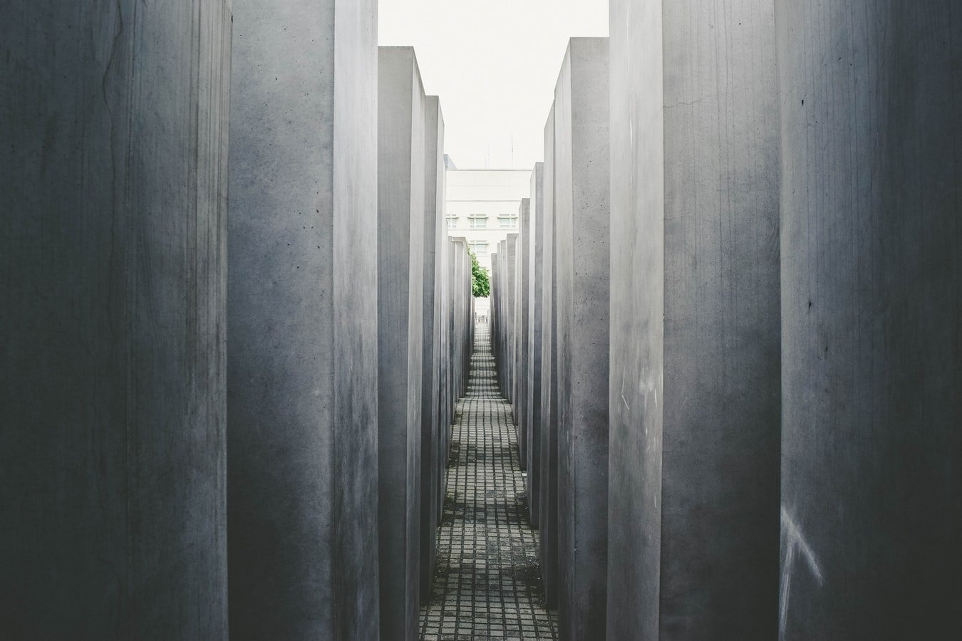 A look from inside the Memorial to the Murdered Jews in Berlin.