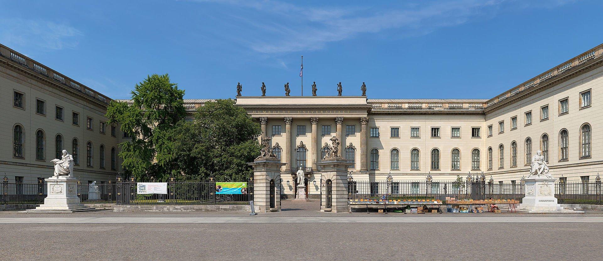 front of the humboldt university in berlin