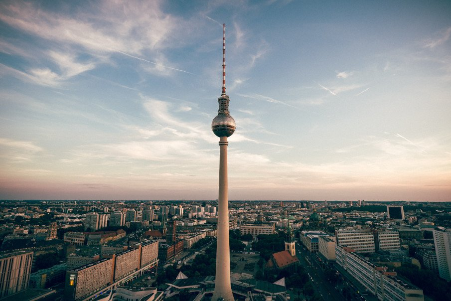 aerial photo of the city of berlin