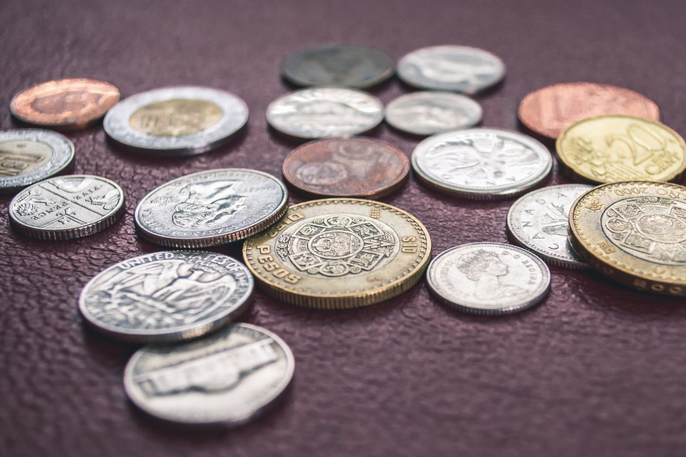 photo of a group of different coins