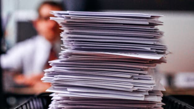 photo of pile of documents