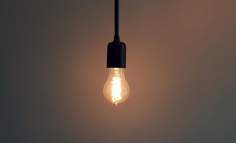 photo of a light bulb turned on