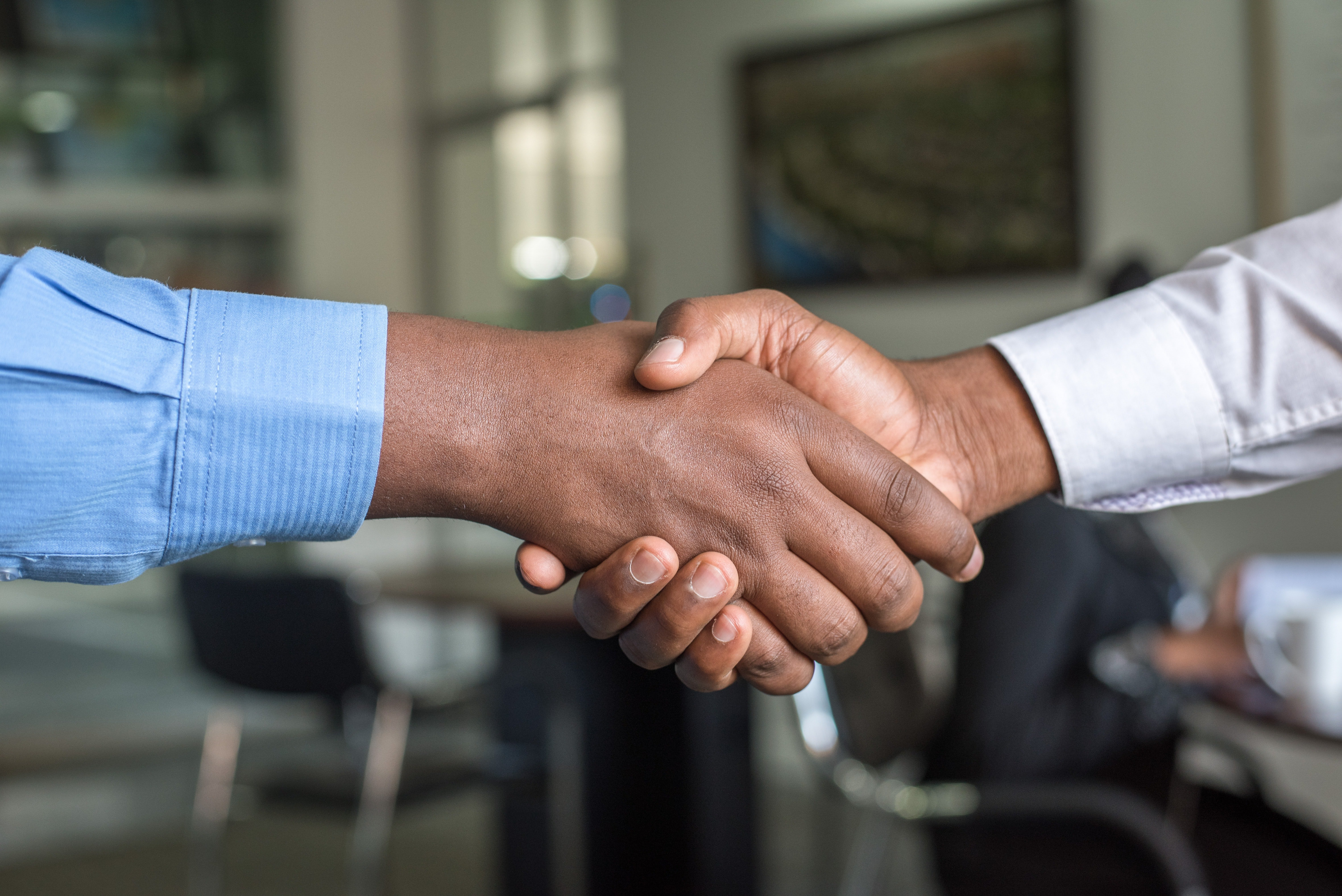 two guys shaking hands