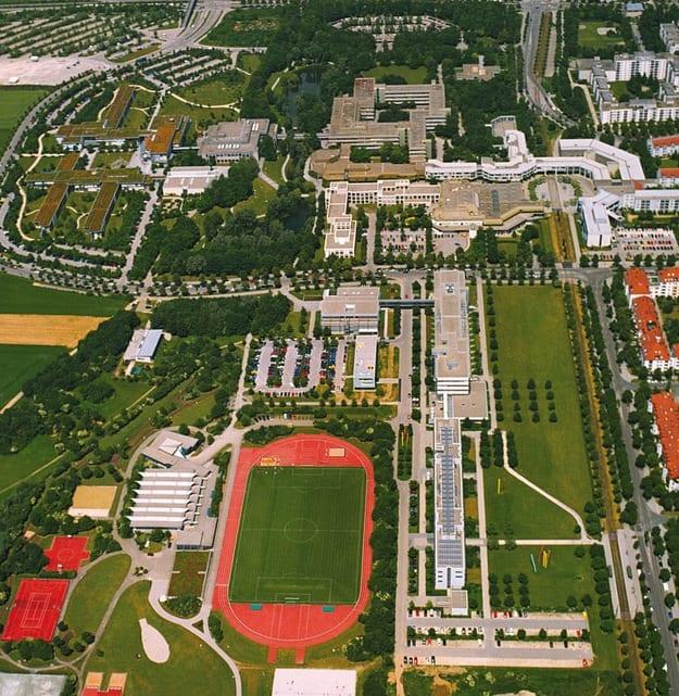 Aerial view of Augsburg University