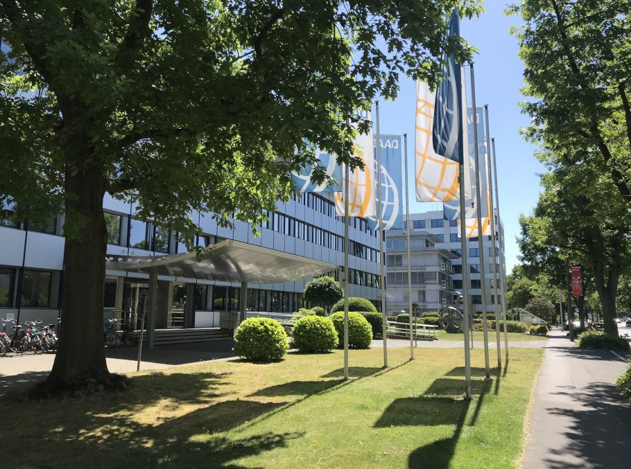 photo of the front of the DAAD headquarters in Bonn, Germany