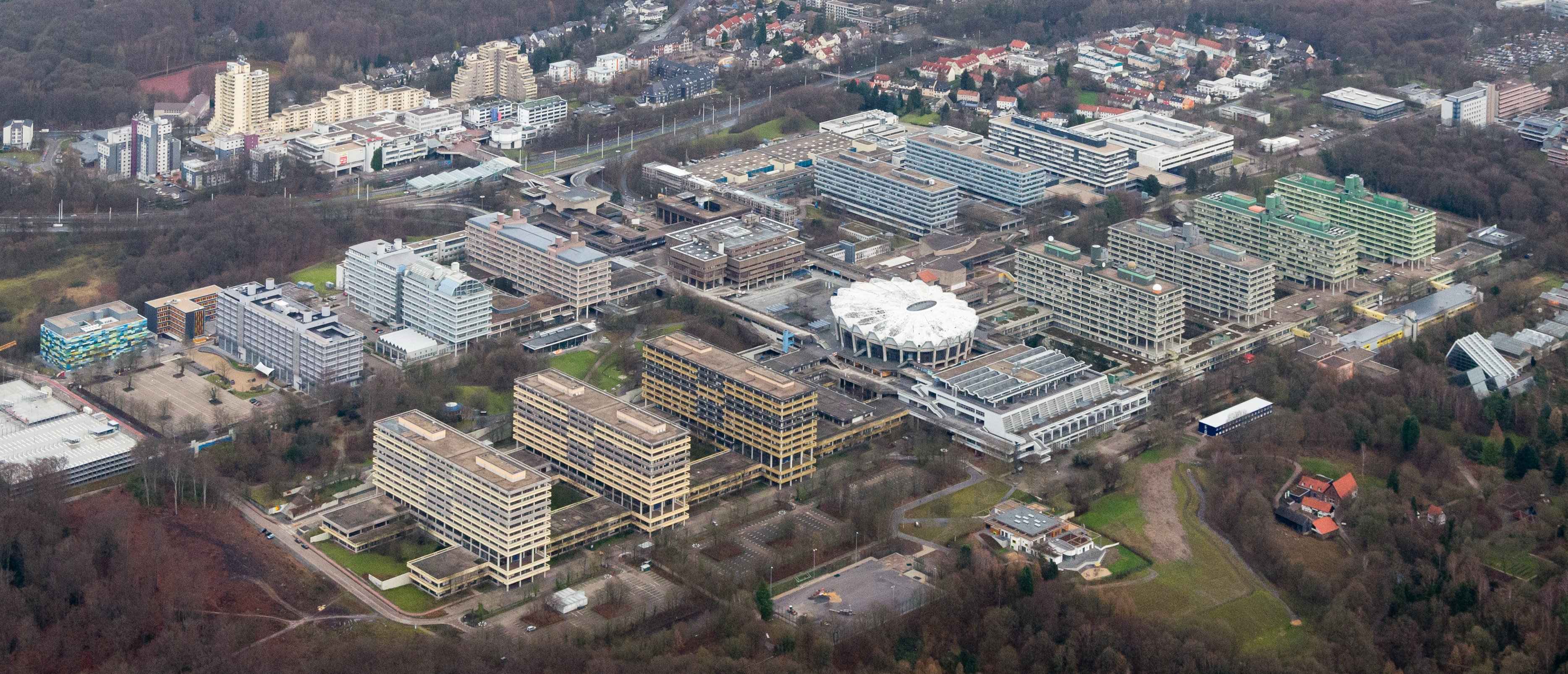 Aerial view of Ruhr-University in the year 2014